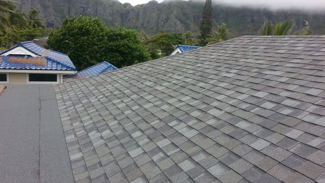 Slate grey roofing tiles professionally installed by On Top Roofing