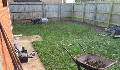 Before landscaping