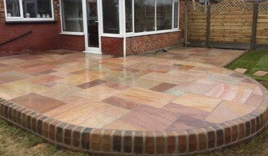 newly laid patio