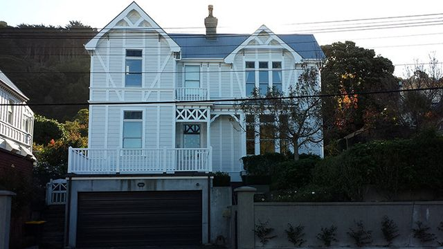 Professional paint job on a residential building in Wellington