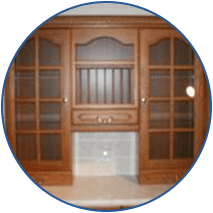 fitted wooden door