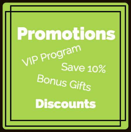 promotions, vip program, bonus gifts & discounts