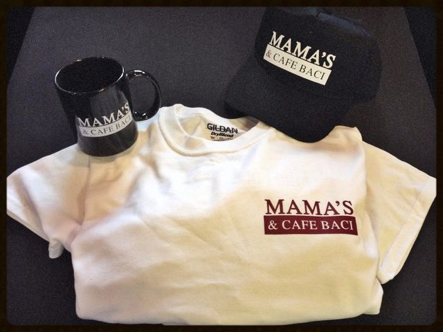Mama's merchandise - t-shirts, hats, mug
