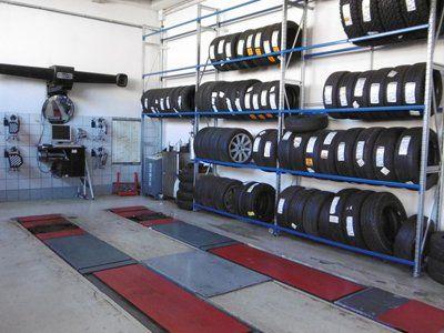 pneumatici in carrozzeria