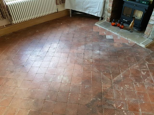 Quarry Tiled Floor Deep Cleaning And Sealing In Hale