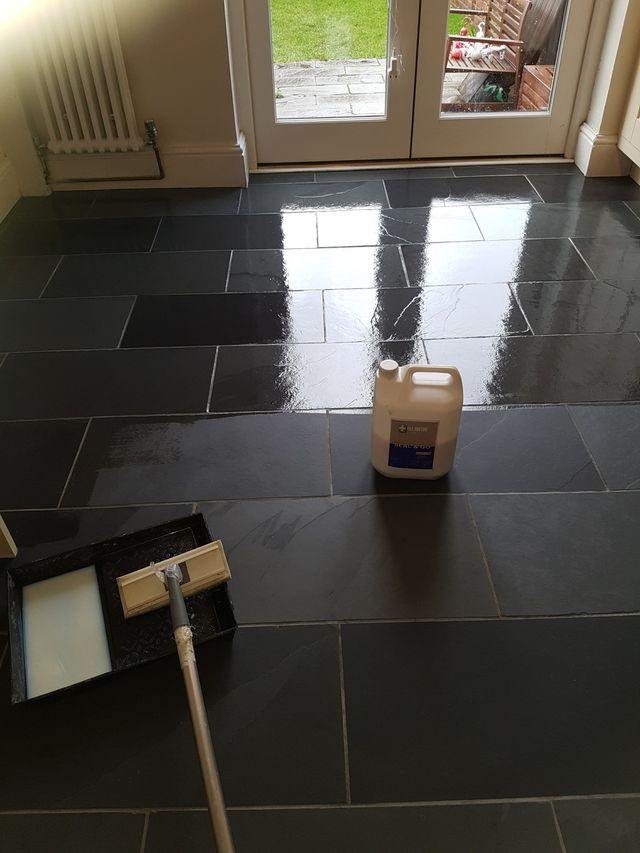 Slate Tiles Cleaning And Sealing