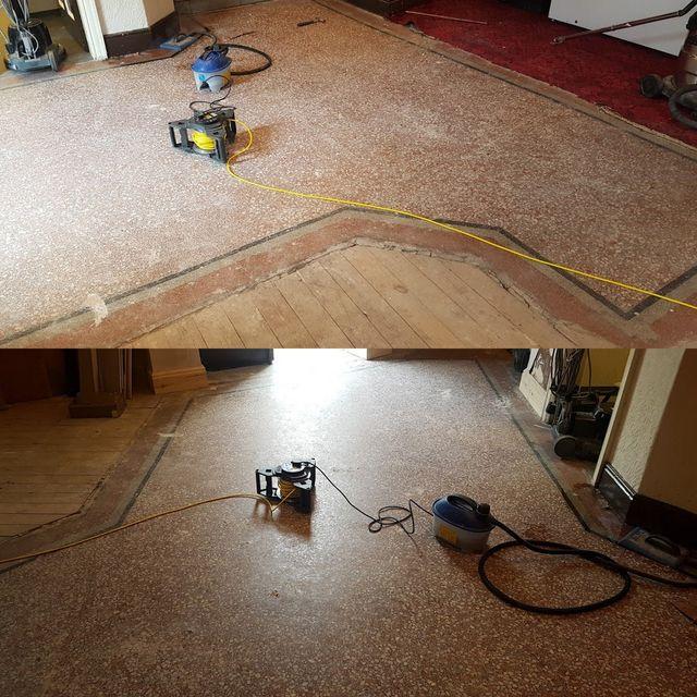 Over 100 Years Old Terrazzo Floor Restoration In Theatre In