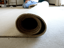 carpet being rolled