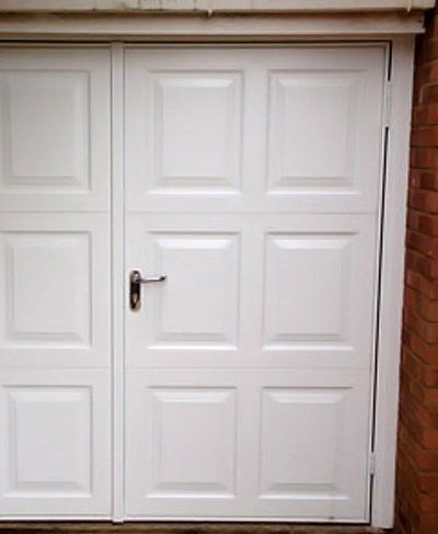 Side hinged garage doors expertly installed in hertfordshire for Premier garage doors