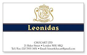 Leonidas business card