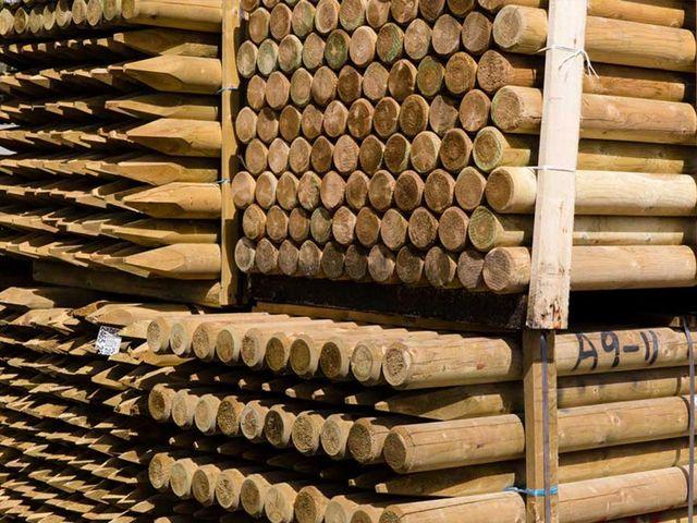 Timber merchants at A Hingley and Son (Timber) Ltd