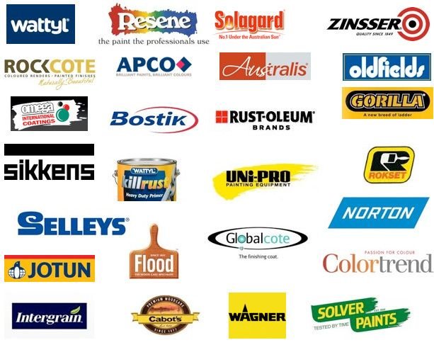 different brands of paint