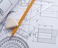 Disegno progettuale tecnico con matita e riga