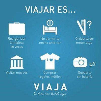 cose da fare durante un viaggio scritte in spagnolo