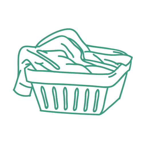 Cesta di panni da lavare