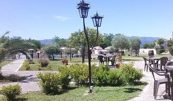 Giardino del ristorante Villa Venere ad Alife