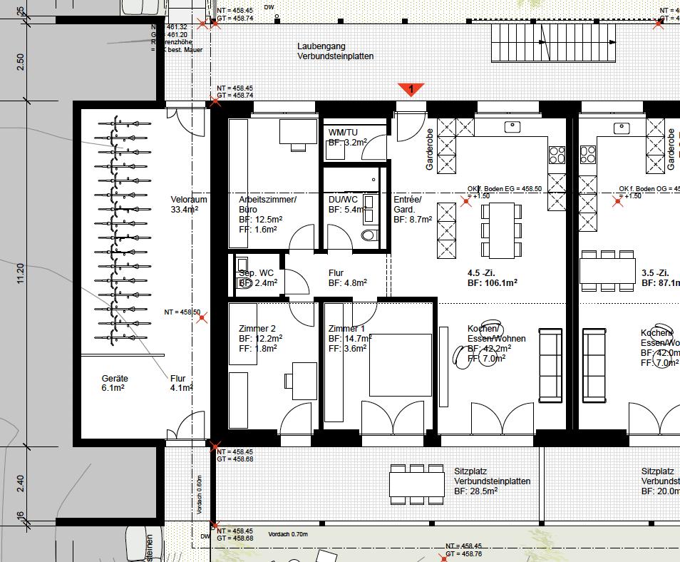 Wohnungsplane