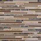 Espresso stone blend mosaic tiles fran-char