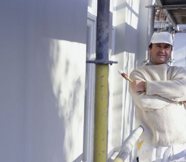 One of our contractors working on one of several painting jobs in Anchorage, AK