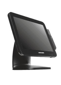 uno schermo nero touch screen marca Axom