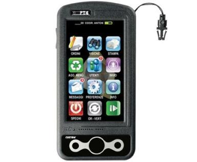un palmare wifi con scritto PT4 e uno schermo touch screen con delle icone