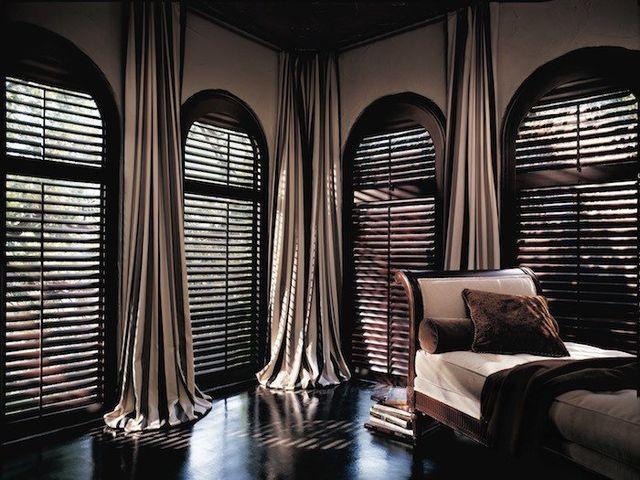 Draperies for odd shaped windows designer's touch.