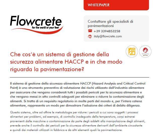flowcrete haccp pavimentazione