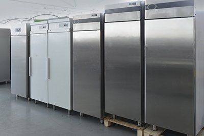 A range of fridge-freezers