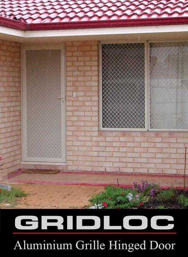 GRIDLOC Hinged Security Door with Privacy Mesh