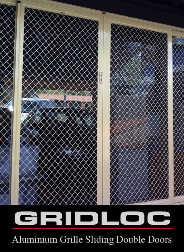 GRIDLOC Sliding Double Security Doors