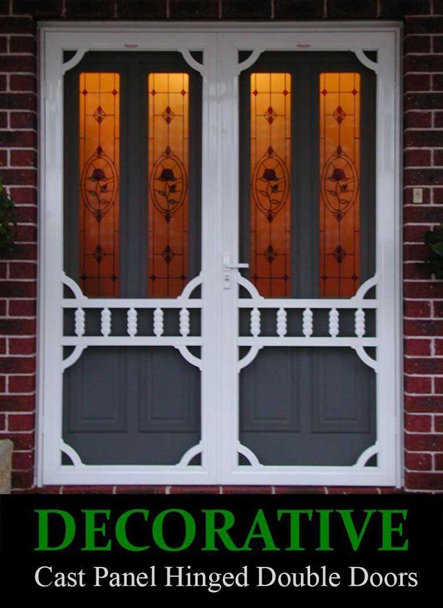 DECORATIVE CG12 Double Hinged Security Doors
