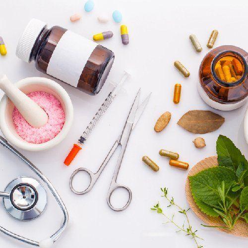 banco di lavoro di farmacista