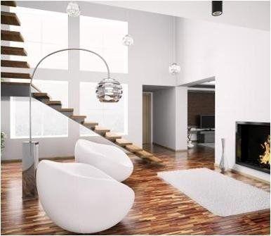 parquet legno con scalinata