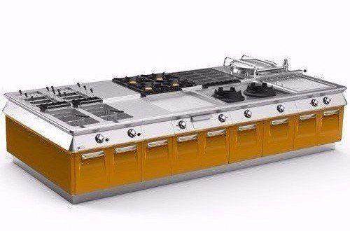 Cucine, forni industriali, forni a gas, frigoriferi, celle frigorifere; lavastoviglie