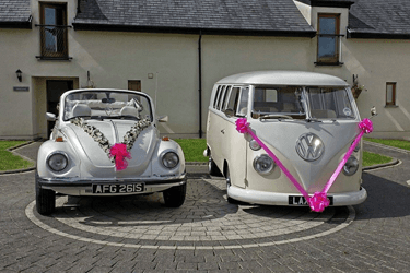 VW van and car