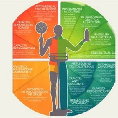 Una raffigurazione di scienze dietetiche e proprietà di alimenti