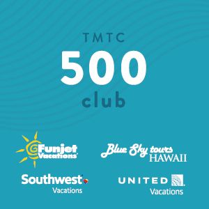 funjet vacations, blue sky tours, southwest vacatons, united vacations, TMTC 500 club
