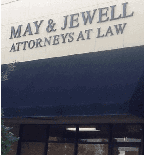 May & Jewell Attorneys at Law signage in  Moultrie, GA