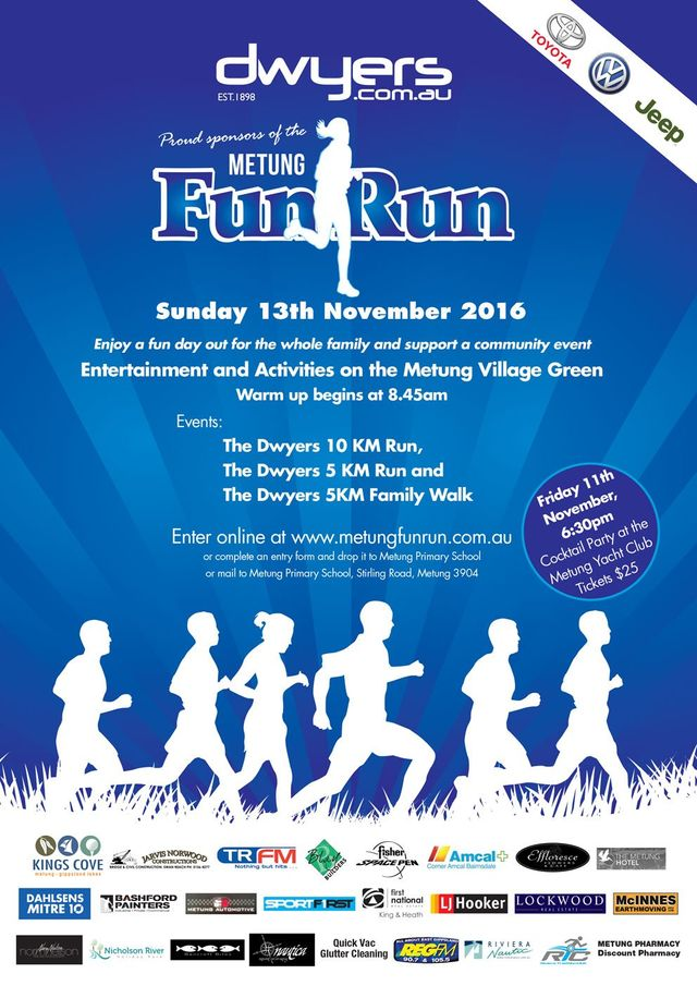 Metung Fun run sponsor