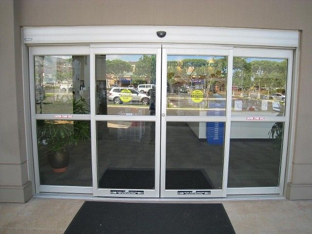 Walmart glass sliding door entrance & Automatic storefront entrance doors - Automatic Door Specialist Inc.