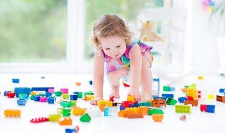 a kid playing