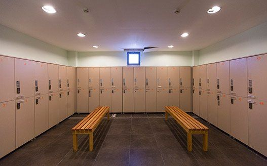 Keeping a gym locker room clean