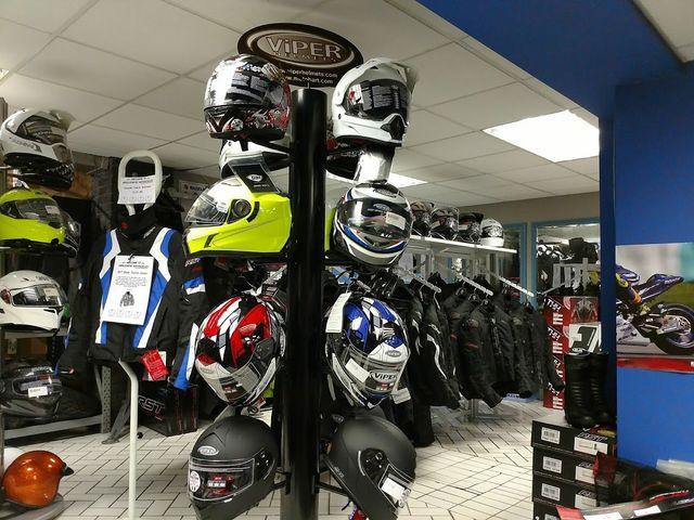 great range of motorcycle helmets