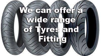 Tyre fitting at Haslemere Motorcycles