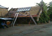 Slate roof before