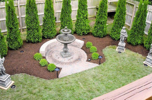 Top view of a garden after landscaping - Landscaping Company Lexington, KY - Moonlight Landscaping Inc