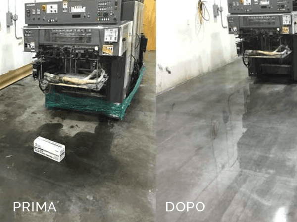 Le pavimentazioni resinose si puliscono molto facilmente