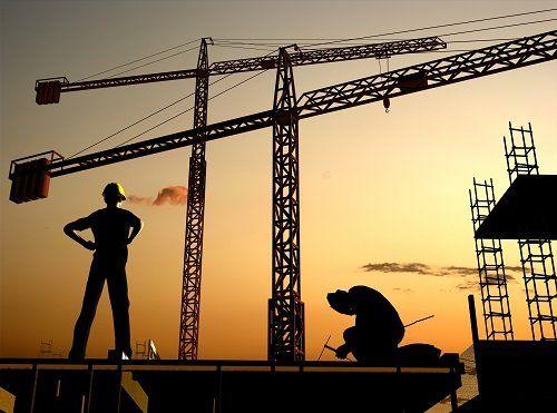 cantiere edile per costruzione civile