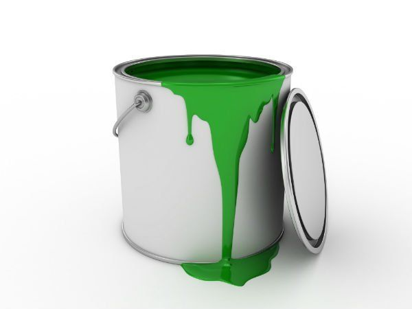 Barattolo di vernice verde
