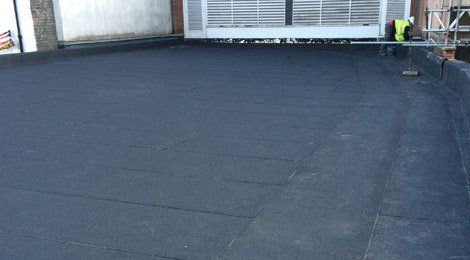 A fully completed roofing project